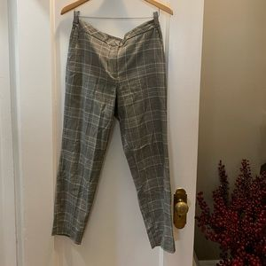H&M Plaid Cropped Pant